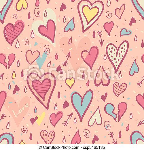 modello, valentina, seamless, cuori - csp5465135