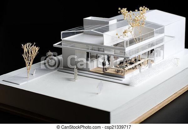 Modelo arquitectónico de un edificio moderno - csp21339717