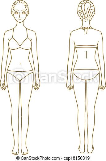 Modelo Cuerpo De Mujer Mujer Vector Cuerpo Archivo Modelo
