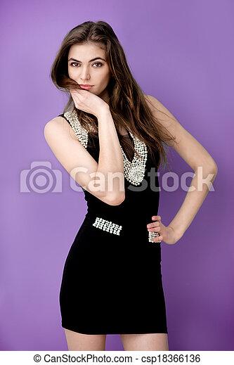 modelo, moda, mujer - csp18366136