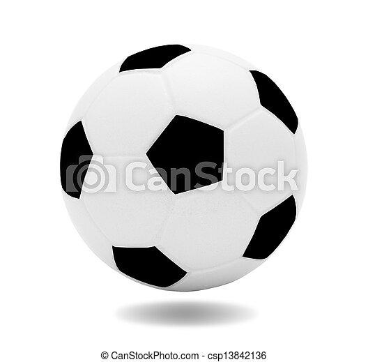 Modelo Recreación Pelota Fútbol Aislado Deporte Plano De Fondo