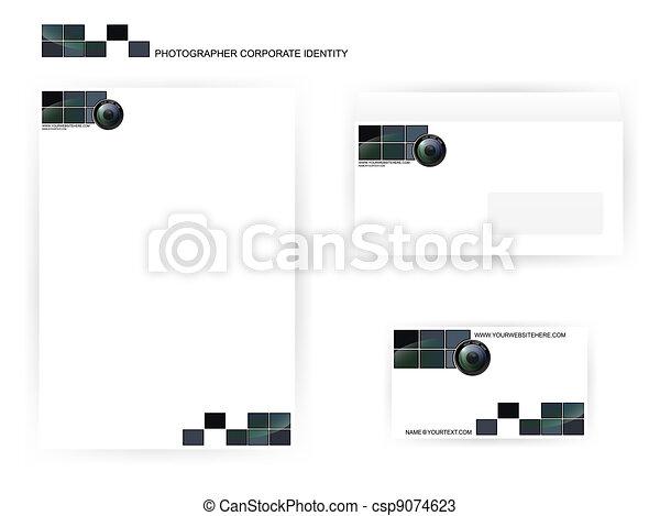 modelos, fotógrafo, identidade incorporada - csp9074623