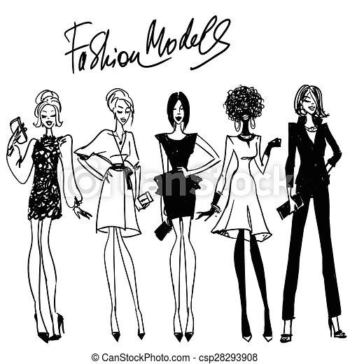 Modelos de moda - csp28293908