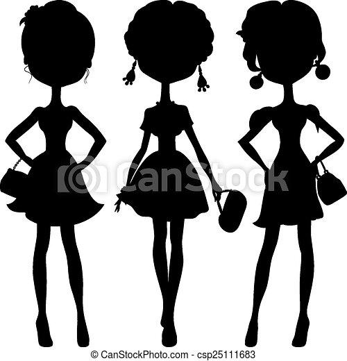 Las chicas de moda de Silhouette son las mejores modelos - csp25111683