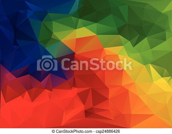 modelos, vívido, ilustração negócio, cor, polygonal, fundo, vetorial, desenho, mosaico - csp24886426