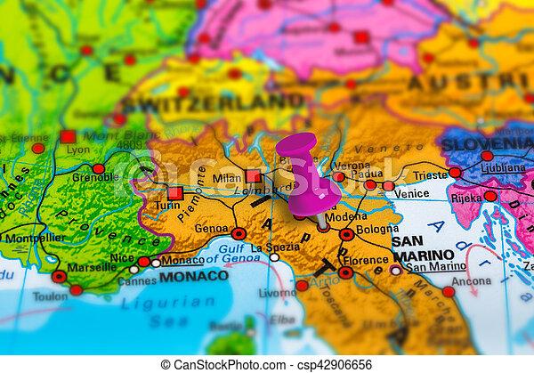 modena landkarte italien Modena, landkarte, italien. Modena, schule, italien, bunte