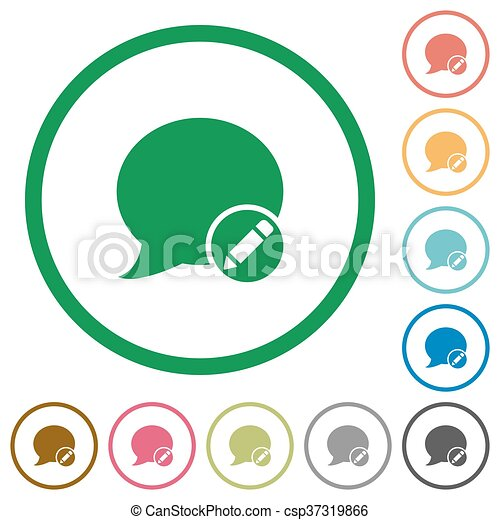 moderate blog comment outlined flat icons set of moderate clip rh canstockphoto com travel blog clipart my blog clipart