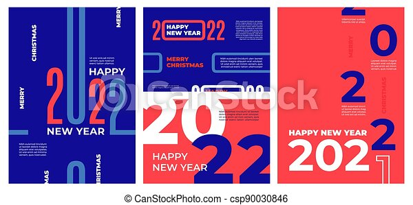 2022 Calendar Cover.Modern 2022 Brochures Happy 22 New Year Calendar Cover With Numbers Decoration Concept Greeting Cards Corporate Banners Canstock