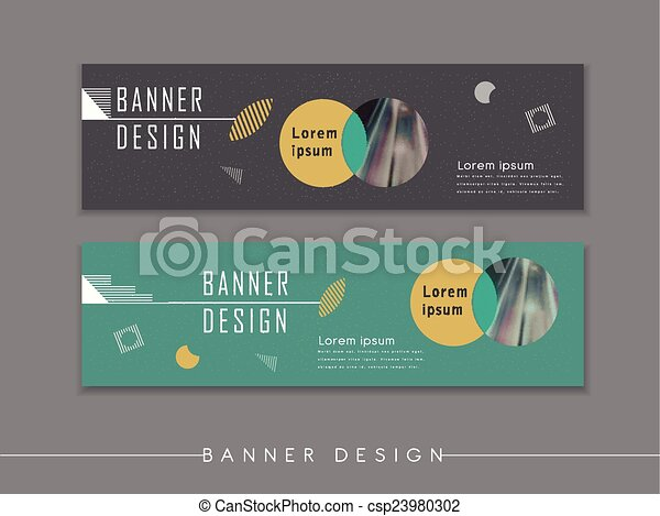 modern abstract banner template design with circle elements