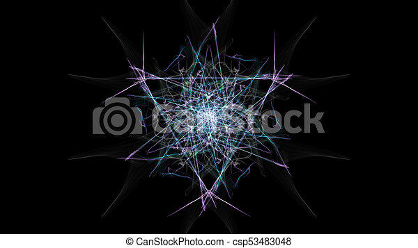 Drawing Lines With Photo Cs : Modern abstract colored lines on black background silk drawing