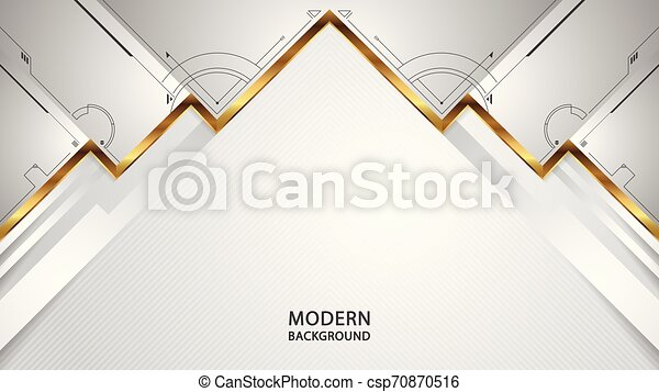 Modern abstract white overlap style background - csp70870516