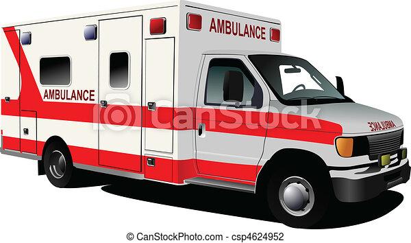 Modern ambulance van over white. C - csp4624952