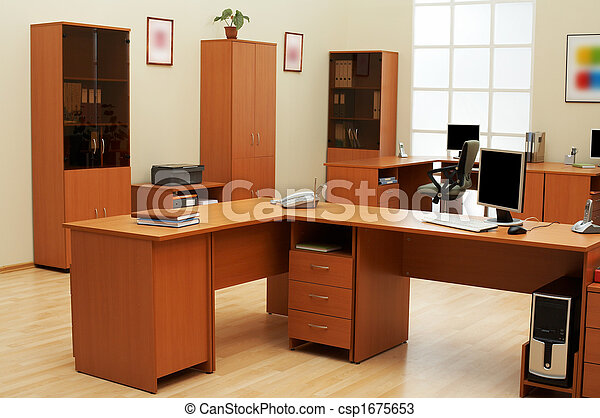 modern and light office - csp1675653