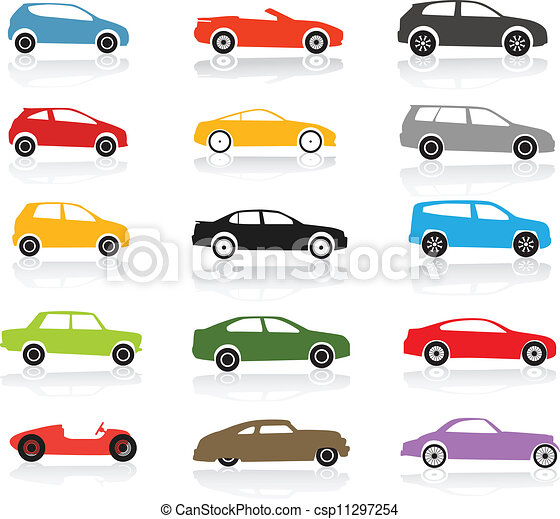 Modern and vintage color cars collection - csp11297254