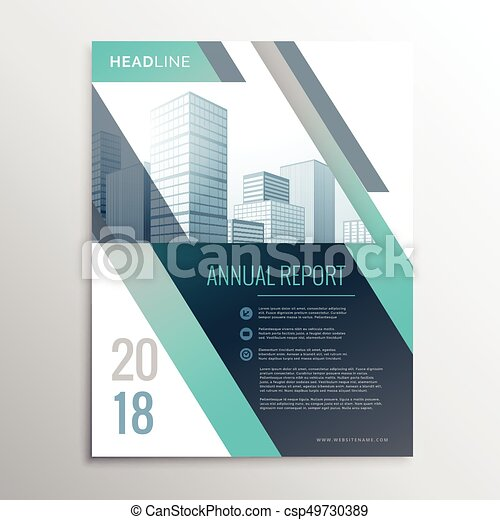 modern annual report business brochure design template cover page in a4