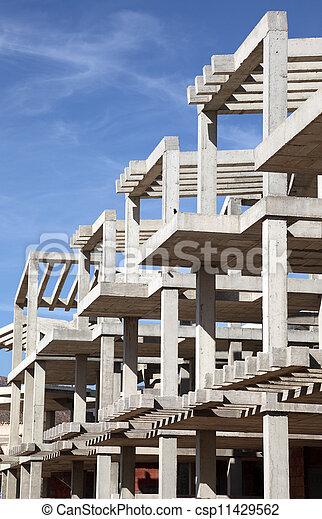 Modern apartment house under construction - csp11429562