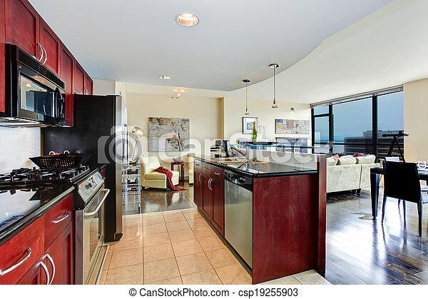 Modern apartment interior. - csp19255903