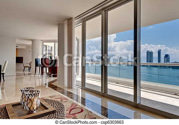 Modern Apartment with Ocean View - csp6303663