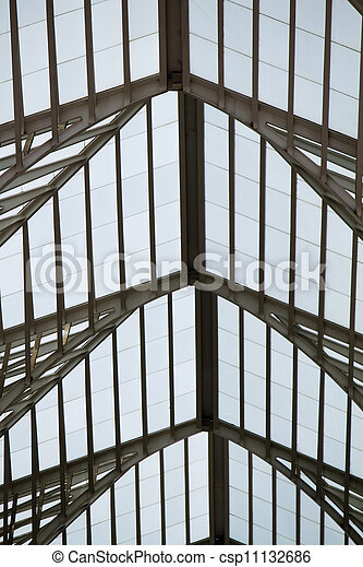 Modern architectural design of a train station - csp11132686