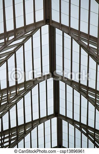 Modern architectural design of a train station - csp13896961