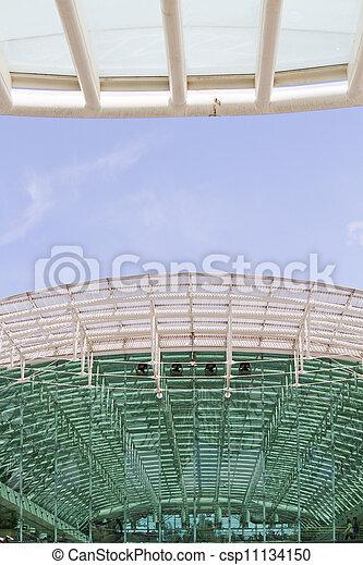 Modern architectural design of a train station - csp11134150