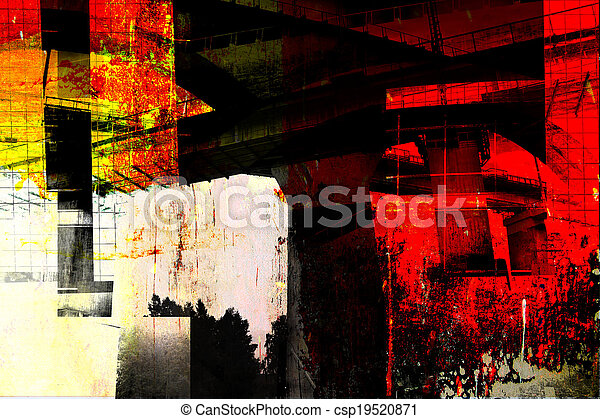 modern architecture - abstract composition - csp19520871