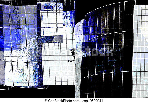 modern architecture - abstract composition - csp19520941