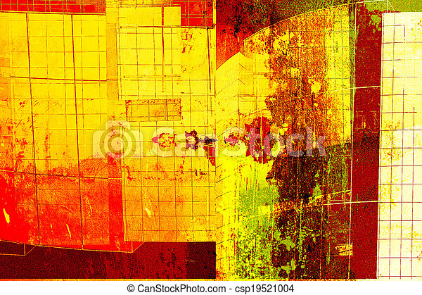 modern architecture - abstract composition - csp19521004