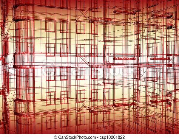 modern architecture background  - csp10261822
