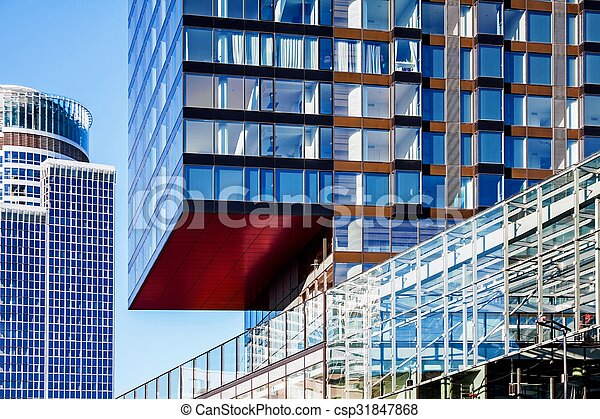 Modern architecture office and hotel apartment buildings - csp31847868
