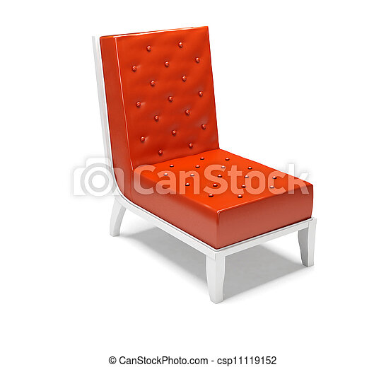 Modern armchair isolated on white background - csp11119152