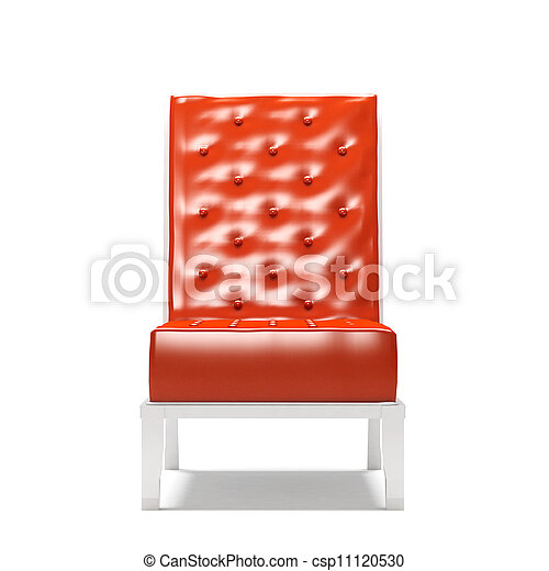 Modern armchair isolated on white background - csp11120530