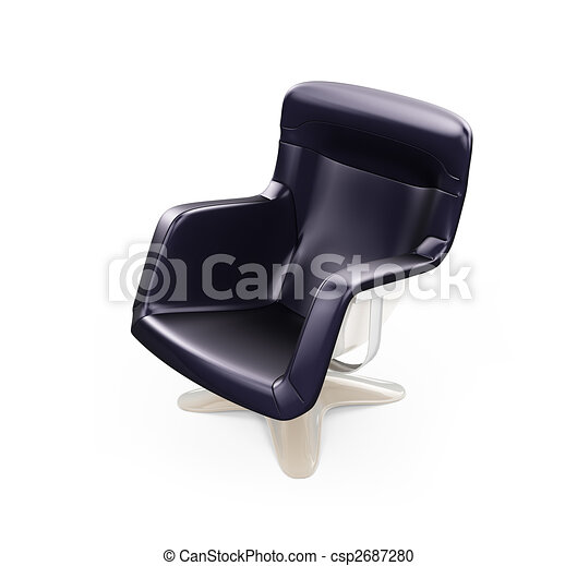 Modern armchair isolated view - csp2687280