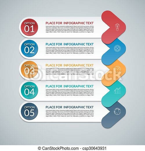 modern arrow infographic design template 5 steps parts options