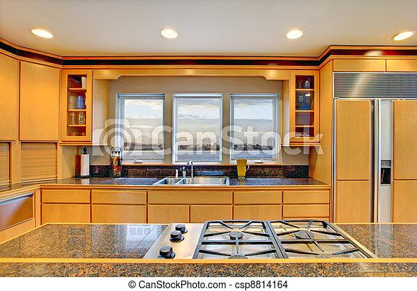 modern bankschalter gro holz luxus granit tops. Black Bedroom Furniture Sets. Home Design Ideas