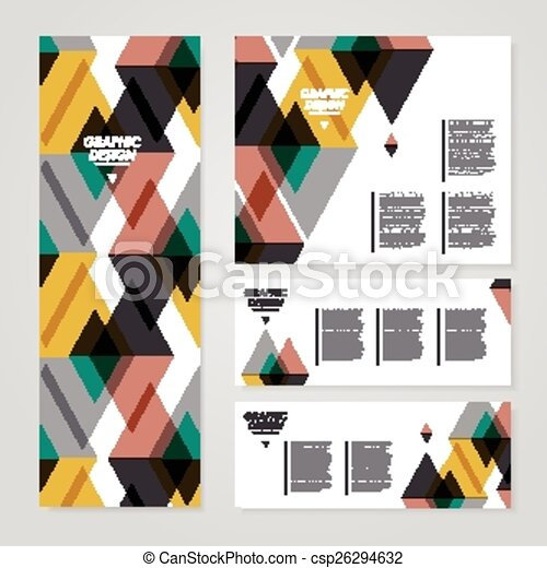 modern banner template design with translucent triangle element