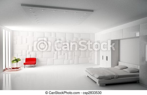 modern bedroom interior 3d render csp2833530