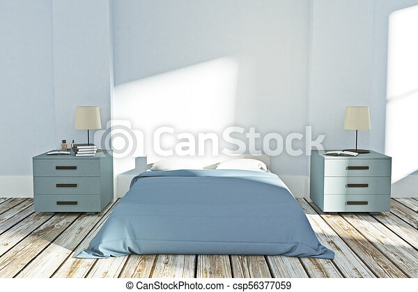 modern bedroom interior csp56377059