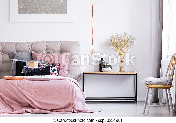Terrific Modern Bedroom With Orange Chair Spiritservingveterans Wood Chair Design Ideas Spiritservingveteransorg