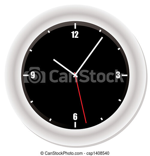 Modern Bevel Clock Modern Clock With Drop Shadow And