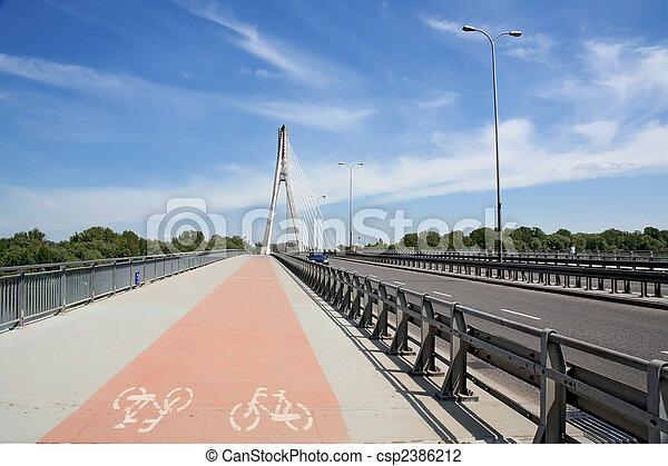 Modern bicycle lane - csp2386212