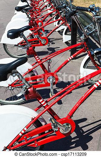 modern bicycle parking - csp17113209