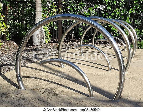 Modern Bicycle Racks - csp36489542