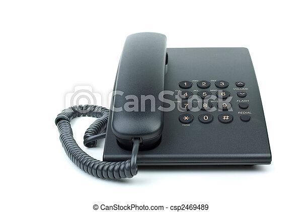 Modern black office phone - csp2469489