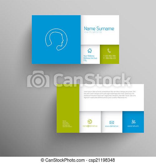 modern blue green business card template modern blue green simple