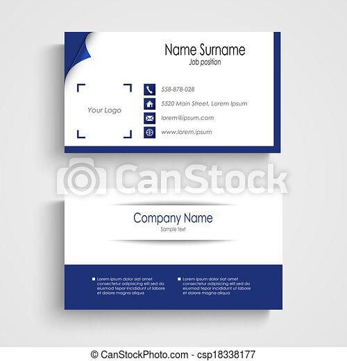 Modern blue light business card template vector eps 10 vectors modern blue light business card template csp18338177 wajeb Gallery