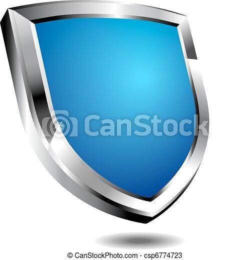 Modern Blue Shield - csp6774723