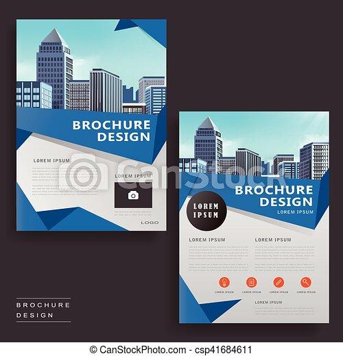 Modern Brochure Design Contemporary Brochure Template  Vector