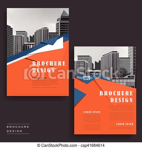 Modern Brochure Design Contemporary Brochure Template  Vector