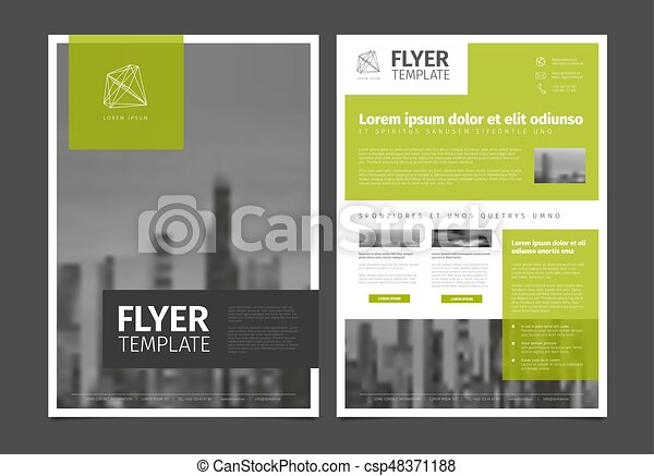 Modern Flyer Template from comps.canstockphoto.com